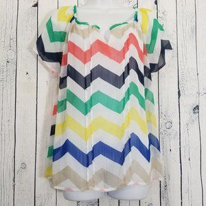Zac & Rachel Sheer Chevron Multi Colored